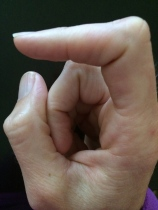 weird pregnancy symptom I can't move the tip of my finger!
